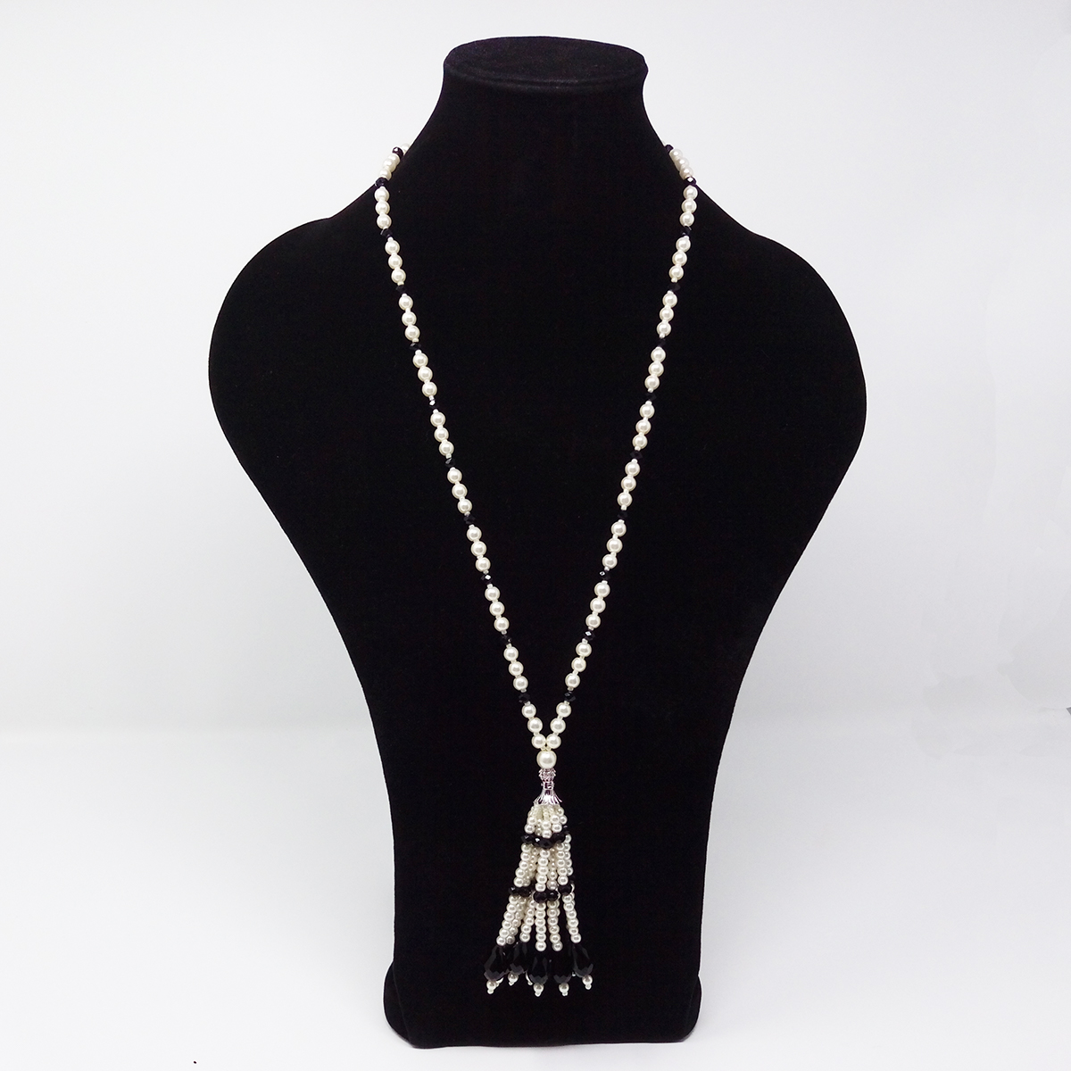 Long Chain Crystal Tassel Necklace